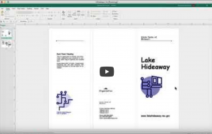 MS Publisher - Making a Brochure